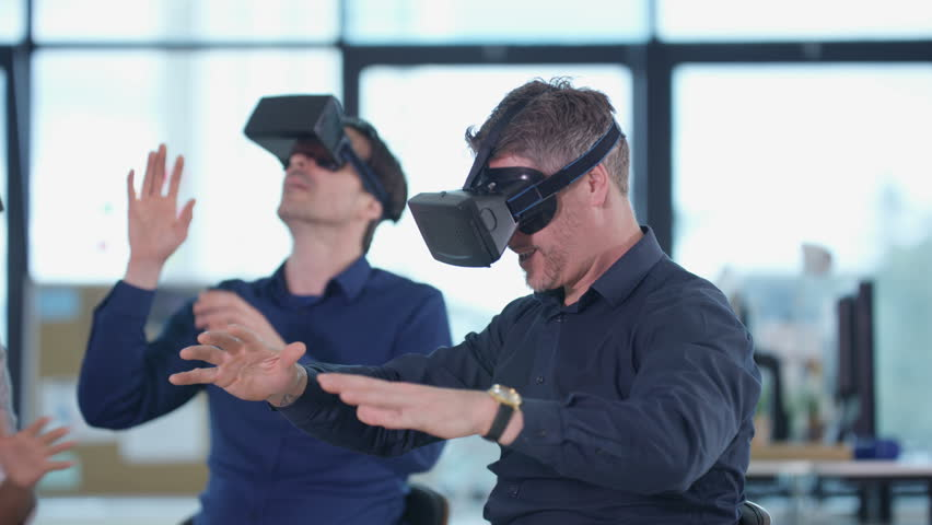 VR headset office